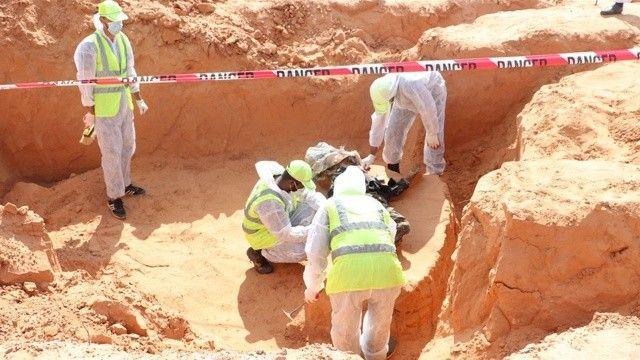 Terhune'de yine toplu mezar bulundu