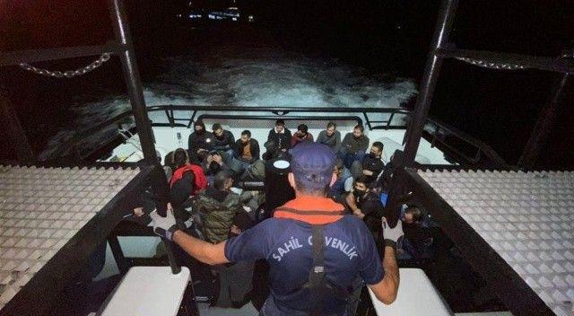 Çanakkale açıklarında 35 göçmen yakalandı