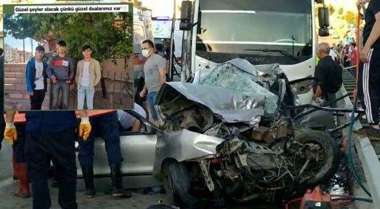5 kişinin hayatını kaybettiği kazadan geriye son fotoğrafları kaldı