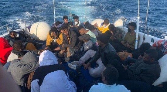 59 düzensiz göçmen kurtarıldı