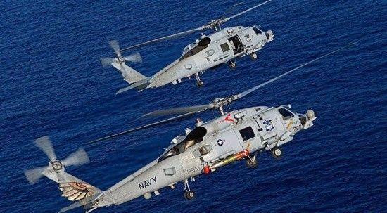 ABD donanmasına ait helikopter okyanusa düştü