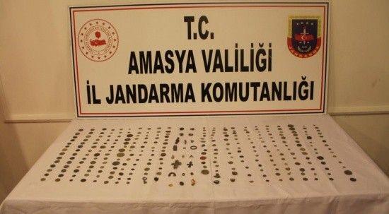 Amasya'da tarihi eser operasyonu: 312 tarihi eser ele geçirildi