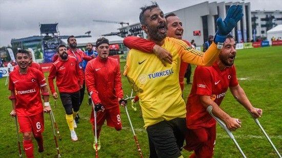 Ampute Futbol Milli Takımı Rusya'yı 5-2'lik skorla devirdi