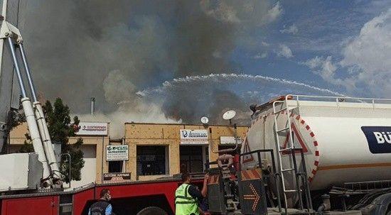 Ankara Organize Sanayi Bölgesinde yangın!