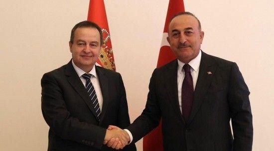 Bakan Çavuşoğlu Sırbistan Ulusal Meclisi Başkanı Ivica Daçiçe ile görüştü