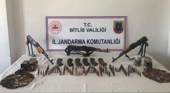 Bitlis'te çok sayıda mühimmat ele geçirildi