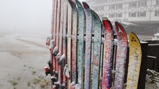 Bolu'ya kar yağdı