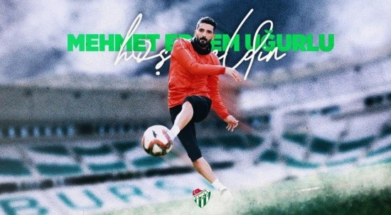 Bursaspor, Mehmet Erdem Uğurlu'yu kadrosuna kattı