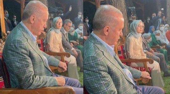 Cumhurbaşkanı Erdoğan, Erdem Bayazıt'ın şiirini dinlerken gözyaşlarını tutamadı