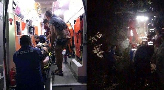 Doğa yürüyüşünde uçurumdan yuvarlanan Rus polisi, Türk polisi kurtardı