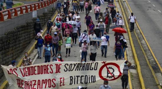 El Salvador'da Bitcoin protestoları giderek büyüyor!