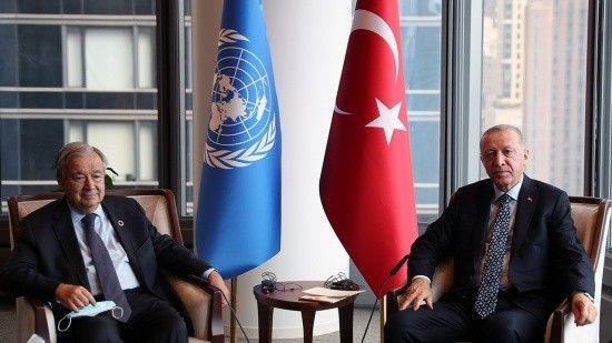 Erdoğan, New York'ta BM Genel Sekreteri Guterres ile görüştü