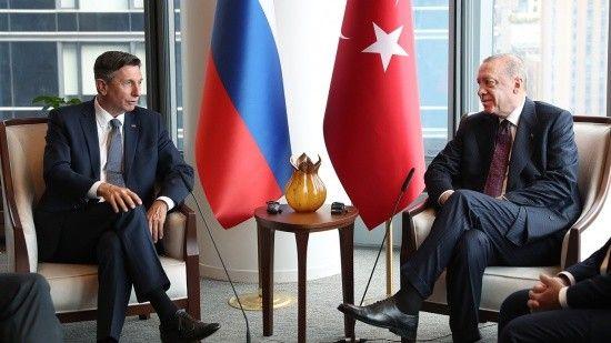 Erdoğan, Slovenya Cumhurbaşkanı Borut Pahor ile bir araya geldi