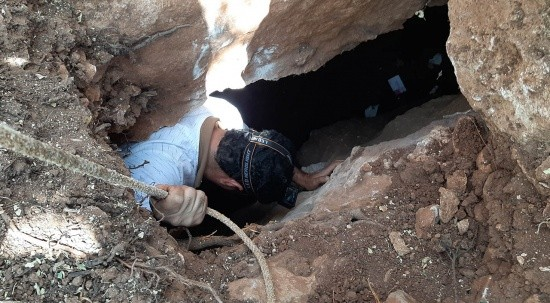 Foseptik çukuru binlerce yıllık tünele çıktı