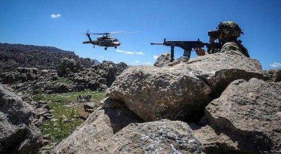 Irak'ın kuzeyinde 11 PKK'lı terörist etkisiz hale getirildi