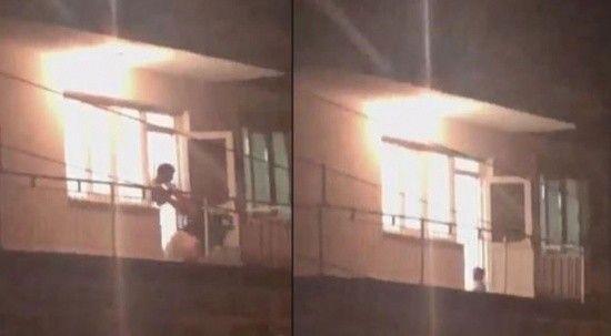 İzmir'de koca dehşeti anbean kameraya yansıdı!