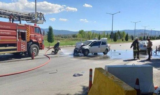 Kütahya'da feci kaza, 2'si polis 5 yaralı var