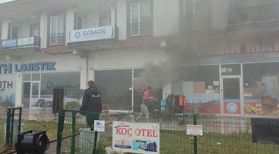 Marketin deposunda çıkan yangın korku dolu anlar yaşattı