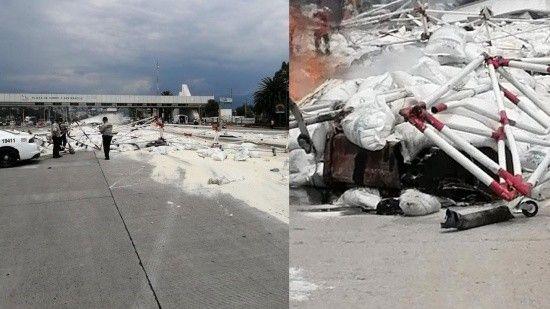 Meksika'da feci kaza! Freni patlayan tır otoyol gişelerine çarptı