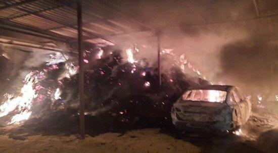Samanlıkta başlayan yangın ev ve otomobili kül etti! Korku dolu anlar yaşandı