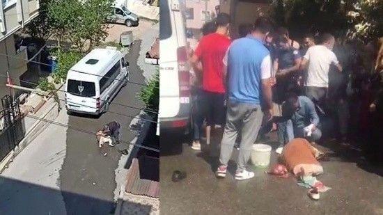 Sokak ortasında koca dehşeti!