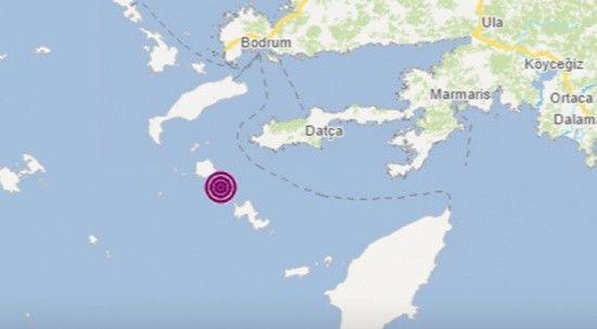 Son dakika: Datça açıklarında 4 büyüklüğünde deprem