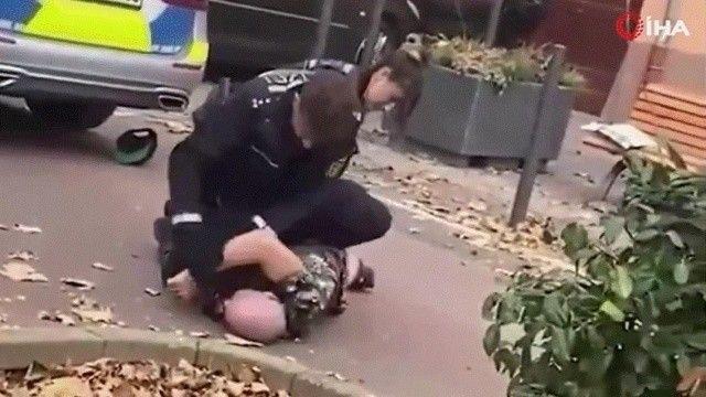 Alman polisinin müdahalesine tepki yağdı