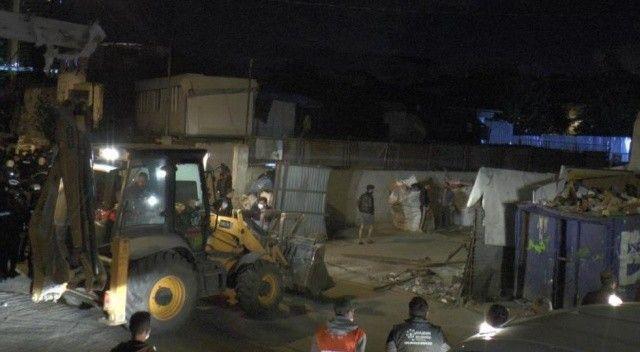 Ataşehir'de kağıt toplayıcılarına operasyon