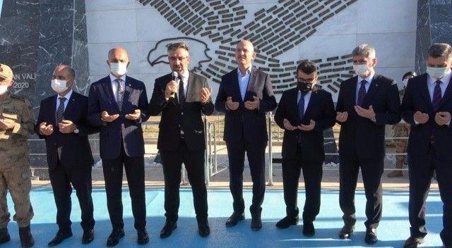 Bakan Soylu, Bayraktepe Şehitlik Anıtı'nın açılışına katıldı