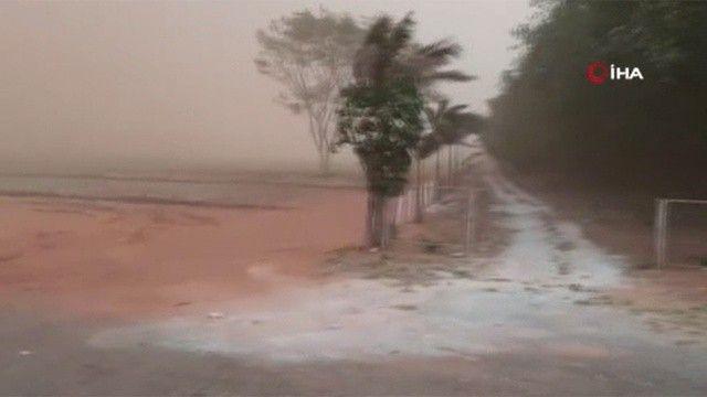 Brezilya'yı kum fırtınası vurdu
