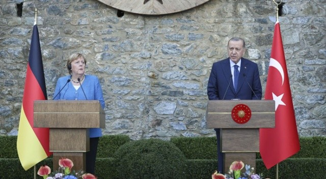 Cumhurbaşkanı Erdoğan ve Merkel'den ortak basın toplantısı: