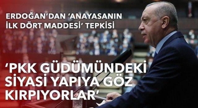 Erdoğan'dan 'anayasanın ilk dört maddesi' tepkisi: PKK güdümündeki siyasi yapıya göz kırpıyorlar
