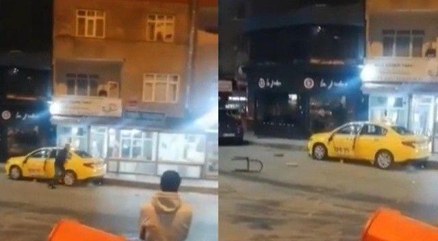Eski çalıştığı durağın taksisine sopa, bıçakla saldırdı