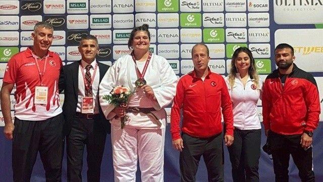 Milli judocumuz Hilal Öztürk, bronz madalya kazandı