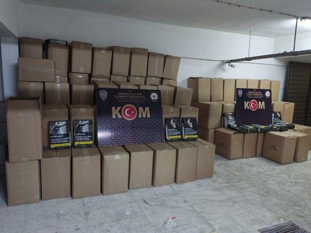 Kırıkkale'de, 1,5 ton tütün ele geçirildi