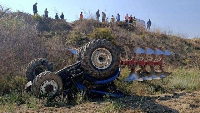 Kullandığı traktör sonu oldu