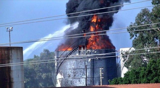 Lübnan'ın güneyindeki Zahrani petrol tesislerinde yangın! Müdahale devam ediyor
