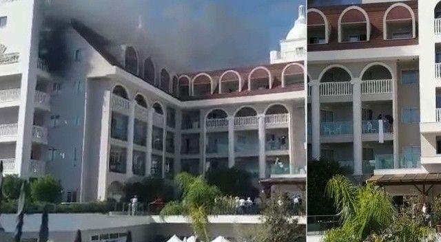 Manavgat'ta 5 yıldızlı otelde yangın paniği