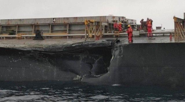 Marmara Denizi açıklarında gemi kazası