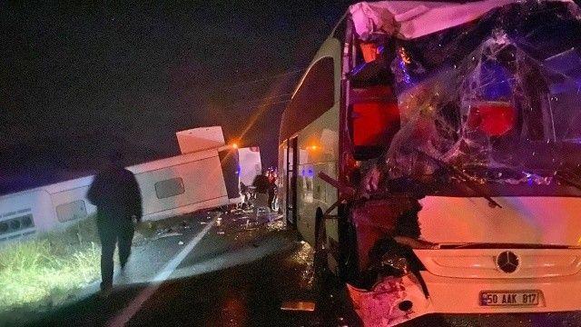 Nevşehir'de öğrenci taşıyan otobüsler kaza yaptı: 44 yaralı