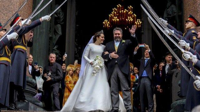 Rusya'da hanedan düğünü: Bir Romanov 100 sene sonra evlendi