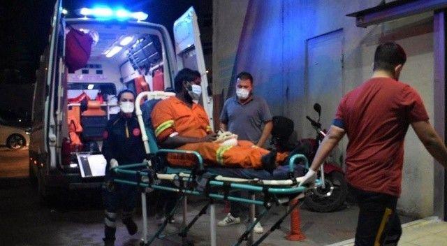 Yüzüne kimyasal madde sıçrayan gemi personeli hastaneye kaldırıldı