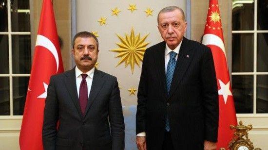 Cumhurbaşkanı Erdoğan, Merkez Bankası Başkanı Kavcıoğlu'nu kabul etti