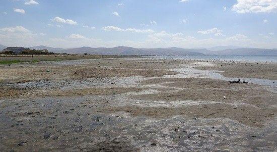 Kuraklık Van Gölü'nüde vurdu! Yüz yıllık iskele ortaya çıktı