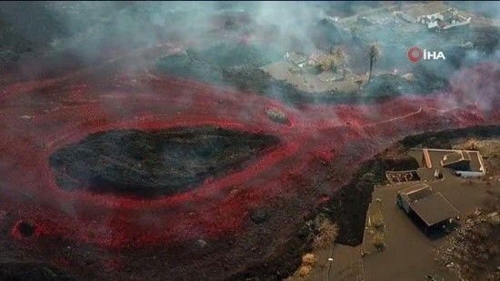 La Palma yanmaya devam ediyor: Kalan binalar ve tarlalarda haritadan silindi