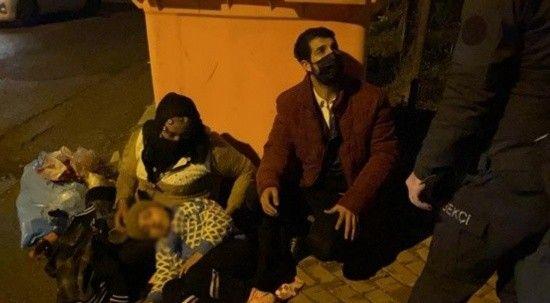 Pendik'te karantinada olması gereken aile Darıca'da dilenirken yakalandı