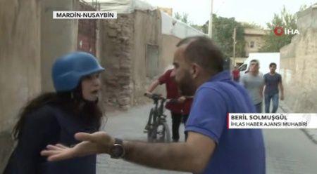 Terör yandaşları İHA muhabirine saldırıp telefonunu gasp etti