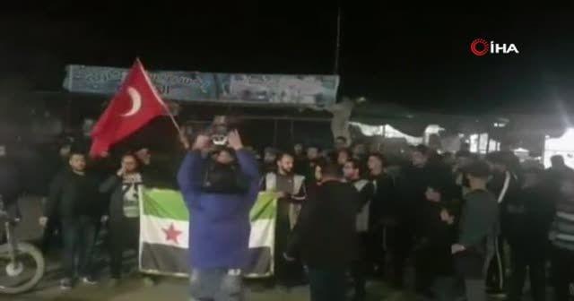 Halep halkından TSK'ya destek gösterisi