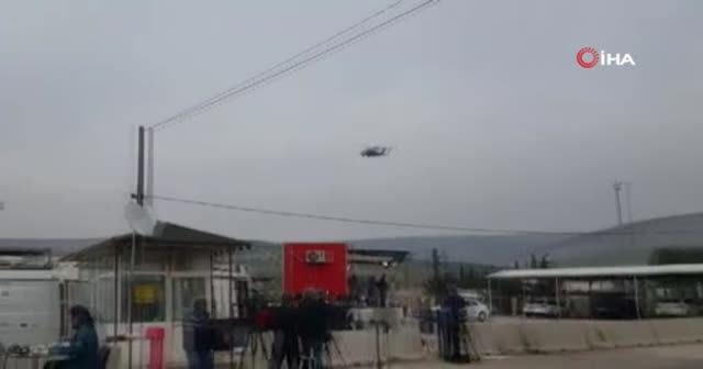 Sınırda helikopter ve ambulans hareketliliği