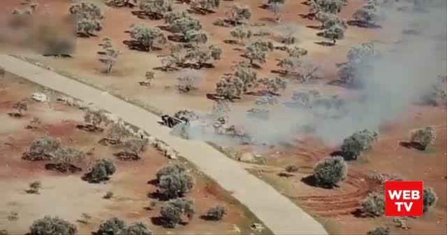 SMO askerleri zırhlı araç ile rejim tankını kovaladı